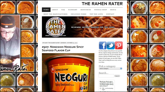 instant ramen rating review site