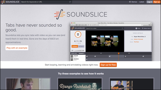 sound slice online guitar lesson free video
